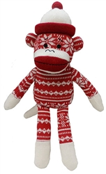 Snowflake Holiday Sock Monkey by Lulubelles Power Plush