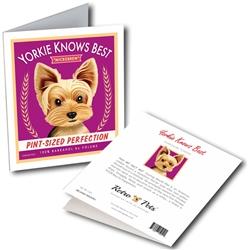 "Yorkie Knows Best GREETING CARD ""Microbrew"""