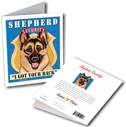 """Shepherd Security GREETING CARD """"I Got Your Back"""""""