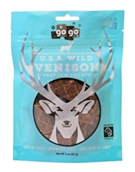 GoGo® 3oz USA Wild Stressless™ Venison Jerky Training Treats