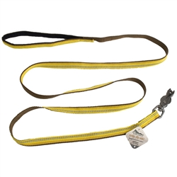 COASTAL PET PRODUCTS K9 EXPLORER REFLECTIVE LEASH WITH SCISSOR SNAP, GOLDENROD YELLOW