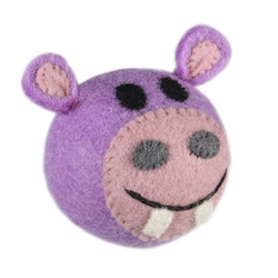 Wooly Wonkz Safari Toy Hippo