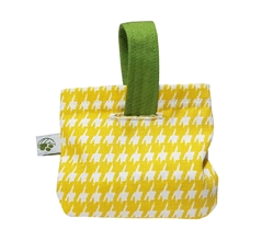 Walk Time Poop Bag Holder - Houndstooth