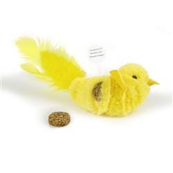 OURPET'S CONC. CATNIP REFILLABLE BIRD YELLOW FELLOW