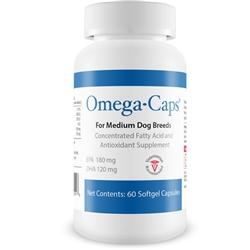 Omega-Caps - For MEDIUM Dogs (60 Softgel Capsules)