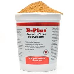 K-Plus Potassium Citrate Plus Cranberry (300g Granules)