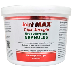 Joint MAX Triple Strength HYPOALLERGENIC (HA) Granules (960 gm) 120 doses