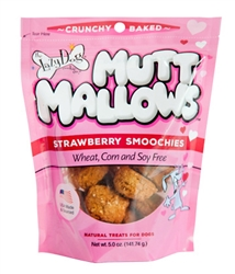 Mutt Mallows Strawberry Smoochies 5 oz by The Lazy Dog