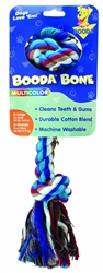 Booda 2-Knot Rope Bone Multi-Color Extra Large