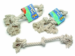 Booda 3-Knot Rope Tug White Medium