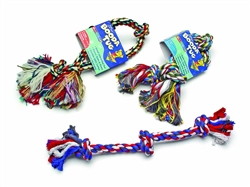 Booda 3-Knot Rope Tug Multi-Color Extra Large