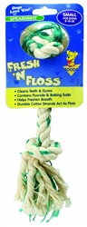 Booda Fresh N Floss 2-Knot Rope Bone Spearmint Small