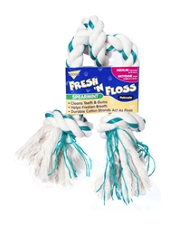 Booda Fresh N Floss 3-Knot Tug Spearmint Medium