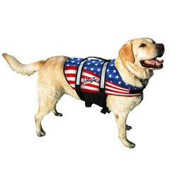 Dog Life Jacket - PAWZ Flag Pet Life Vest, Nylon Pet Preserver