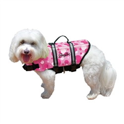 PAWZ Pink Bubbles Pet Life Jacket Vest for Dogs - 5 Sizes