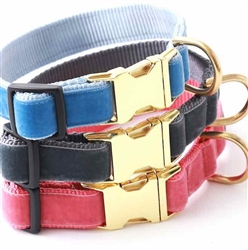 Vintage Velvet Dog Collars & Leashes