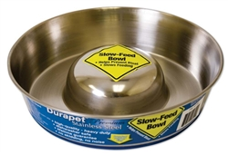 OURPET'S DURAPET PREMIUM STAINLESS STEEL SLOW FEED BOWL