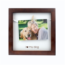 """I Love My Dog"" Pet Clothespin Frame"