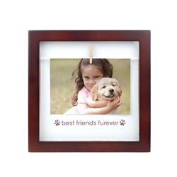 """Best Friends Furever"" Pet Clothespin Frame"