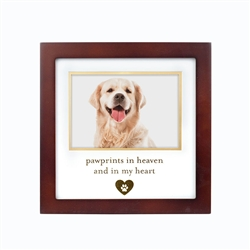 """Pawprints In Heaven, and in My Heart"" Pet Clothespin Frame"