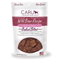 Caru Dog Natural Wild Boar Treats Bites 4oz.