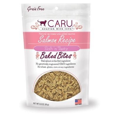 Caru Cat Natural Salmon Recipe Bites 3oz.
