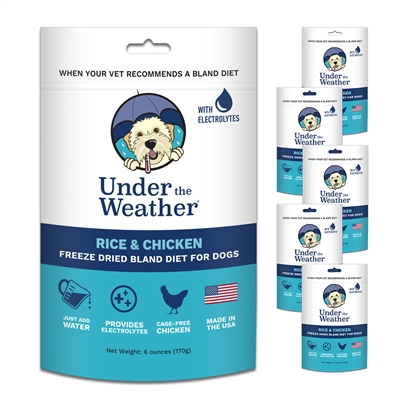 Rice & Chicken for Dogs - 6oz bags of meal mix by Under the Weather