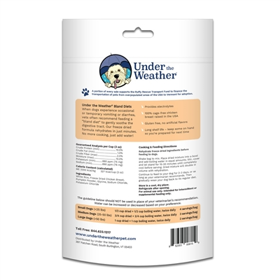 Rice, Chicken, & Pumpkin for Dogs - 7oz bags of meal mix by Under the Weather