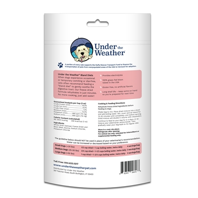 Oatmeal & Bison for Dogs - 6oz bags of meal mix by Under the Weather