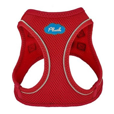 Red Plush Step In Vest Air-Mesh Harness