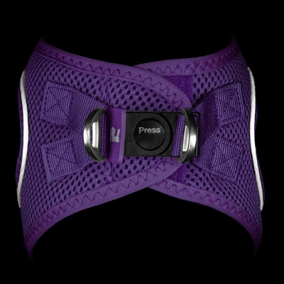 Purple Plush Step In Vest Air-Mesh Harness