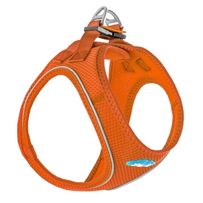 Orange Plush Step In Vest Air-Mesh Harness