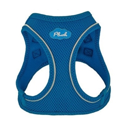 Lapis Blue Plush Step In Vest Air-Mesh Harness