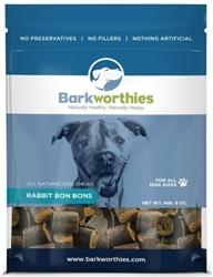 BARKWORTHIES DOG RABBIT BON BONS 8 OZ