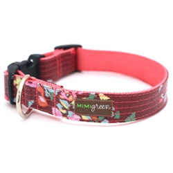 'Posey' Laminated Cotton Dog Collars & Leashes