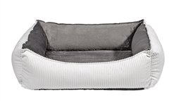 Oslo Ortho Bed Marshmallow Microcord (Grey Teddy)