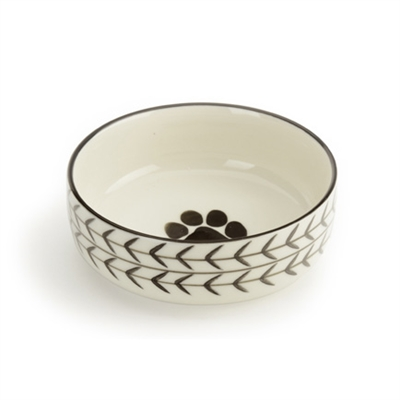 White Arrow - Pet Bowls