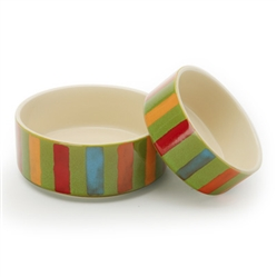 Stripes - Reactive Glaze Pet Bowls