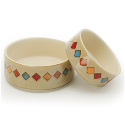 Diamonds - Reactive Glaze Pet Bowls