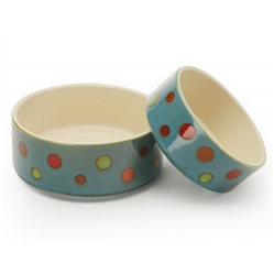 Dots - Reactive Glaze Pet Bowls