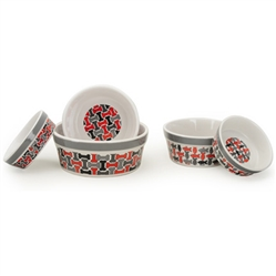Treats (Gray Rim) Pet Bowls