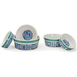 Treats (Green Rim) Pet Bowls