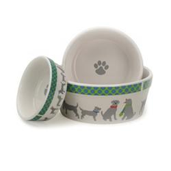 Neck Ties Pet Bowls