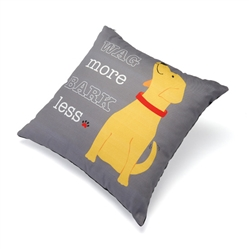 "Wag More Bark Less Accent Pillow (18"" x 18"")"