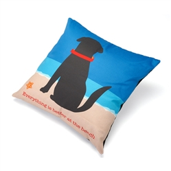 "Everything is Better at the Beach Accent Pillow (20"" x 20"")"