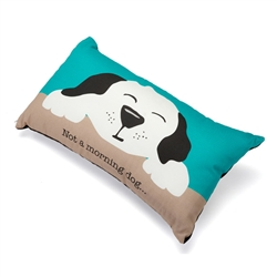 "Not a Morning Dog Accent Pillow (12"" x 20"")"