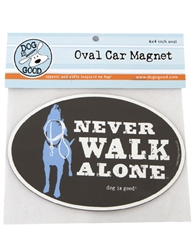 Never Walk Alone Oval Car Magnet