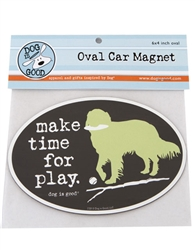 Make Time For Play Oval Car Magnet