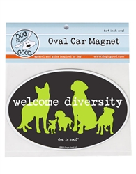 Welcome Diversity Oval Car Magnet