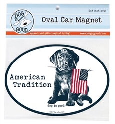 American Tradition Oval Car Magnet